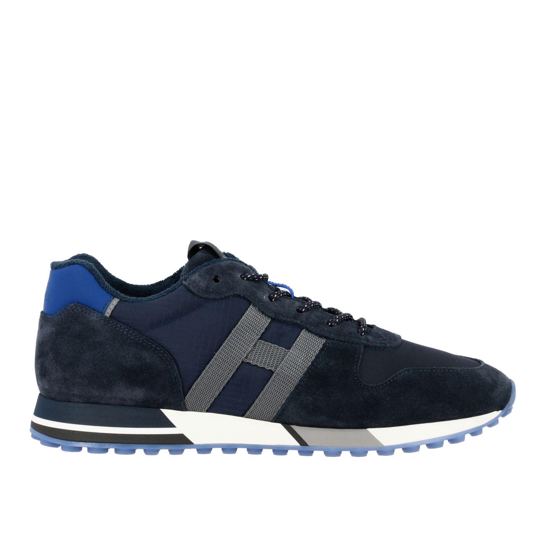 Sneakers Hogan: Hogan 383 Retrò running sneakers in suede and canvas blue 1
