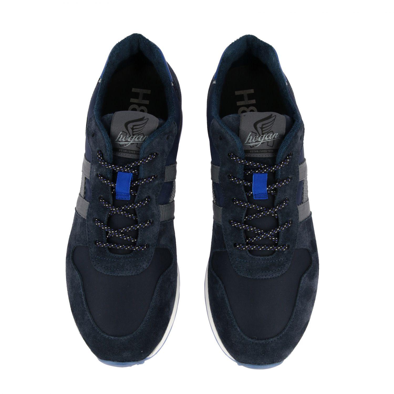 Sneakers Hogan: Hogan 383 Retrò running sneakers in suede and canvas blue 3