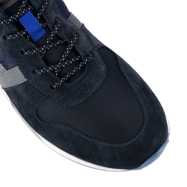Sneakers Hogan: Hogan 383 Retrò running sneakers in suede and canvas blue 4