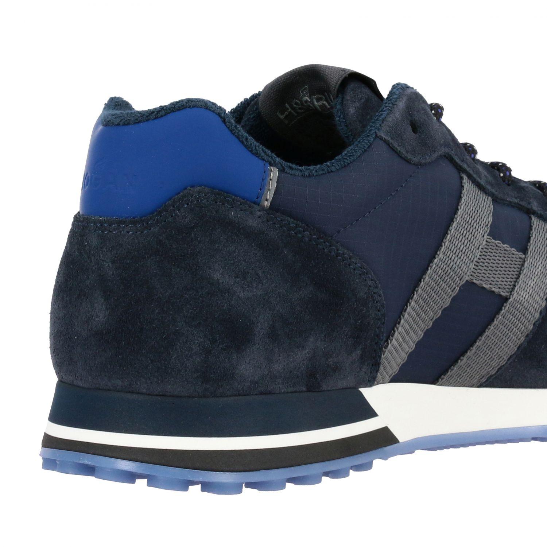 Sneakers Hogan: Hogan 383 Retrò running sneakers in suede and canvas blue 5