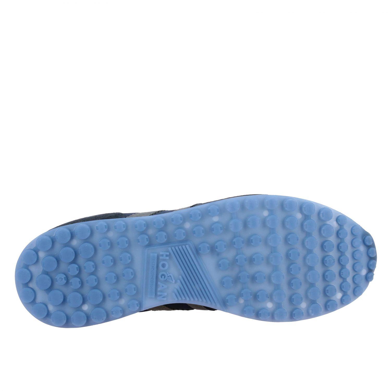 Sneakers Hogan: Hogan 383 Retrò running sneakers in suede and canvas blue 6
