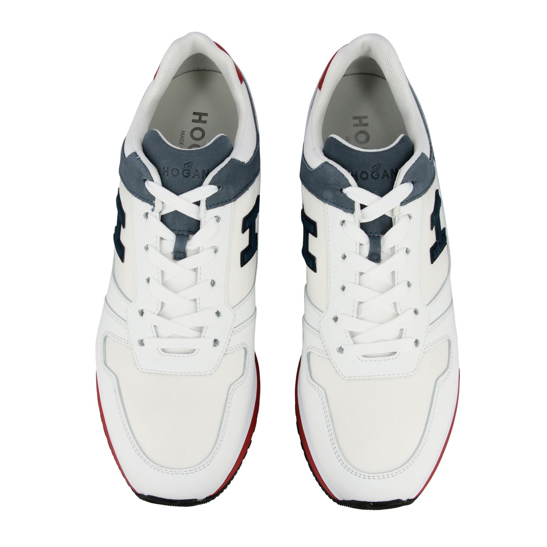 Sneakers 321 running Hogan in nylon e pelle con h flock bianco 3
