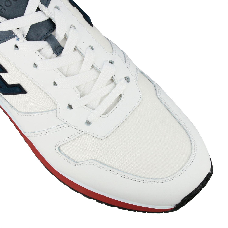 Sneakers 321 running Hogan in nylon e pelle con h flock bianco 4