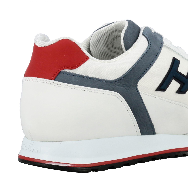 Sneakers 321 running Hogan in nylon e pelle con h flock bianco 5