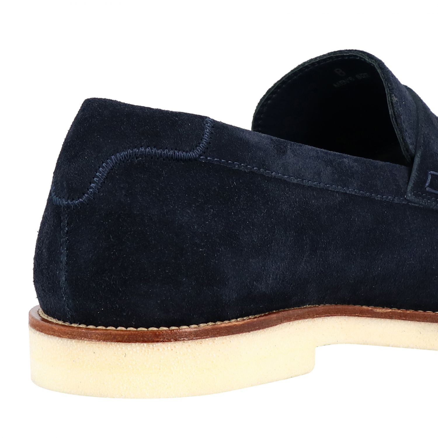 Business Casual Hogan suede loafer with brogue motif blue 5