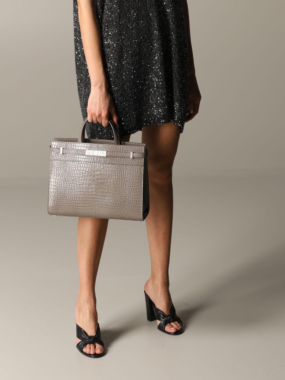 Bolso de mano Saint Laurent: Bolso de hombro mujer Saint Laurent tórtola 2