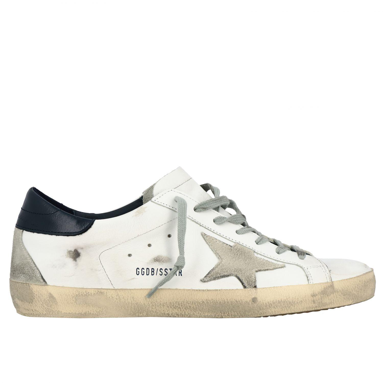 Sneakers Superstar Golden Goose in pelle con stella bianco 1