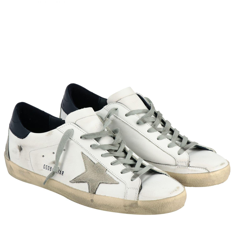 Sneakers Superstar Golden Goose in pelle con stella bianco 2