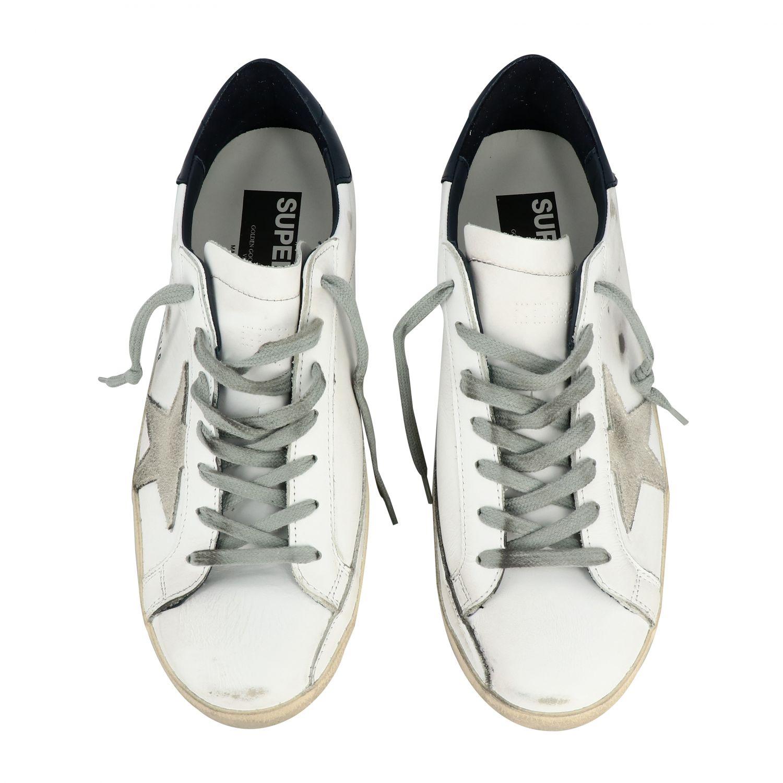 Sneakers Superstar Golden Goose in pelle con stella bianco 3