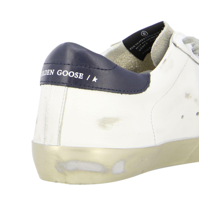 Superstar Golden Goose Sneakers aus Leder mit laminiertem Stern weiß 5