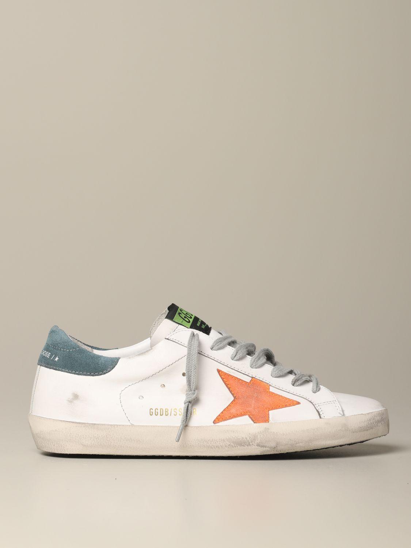 Golden Goose Superstar Leder Sneakers mit Stern weiß 1