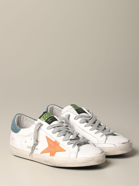 Golden Goose Superstar Leder Sneakers mit Stern weiß 2