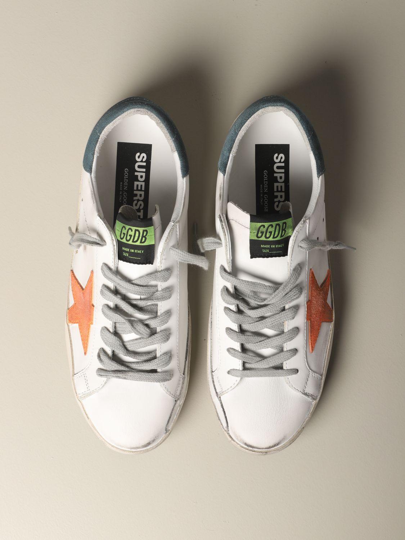 Golden Goose Superstar Leder Sneakers mit Stern weiß 3
