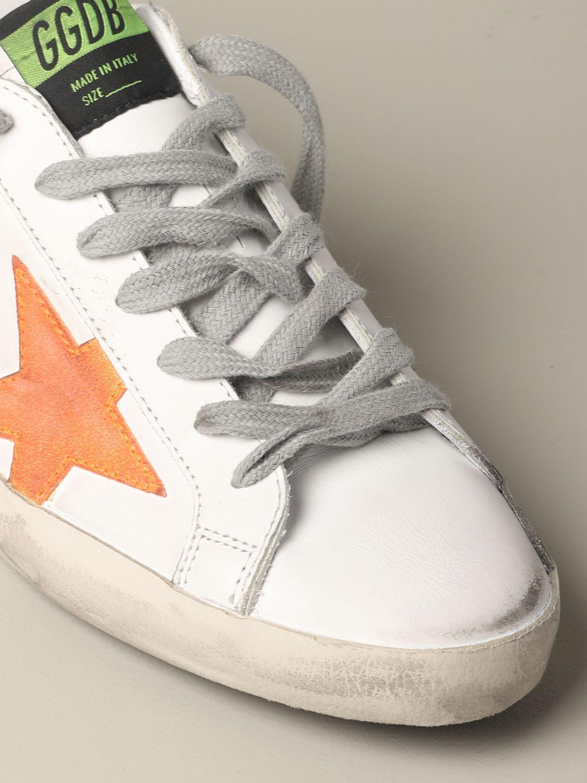 Golden Goose Superstar Leder Sneakers mit Stern weiß 4