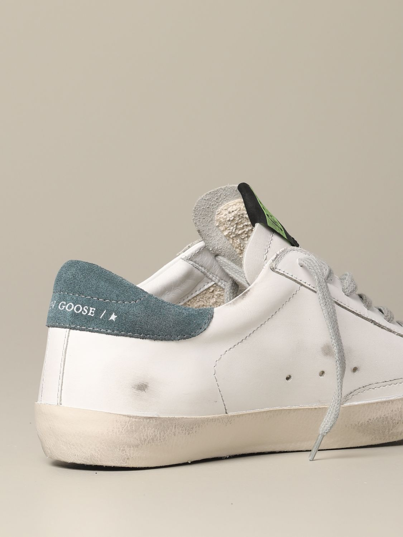 Golden Goose Superstar Leder Sneakers mit Stern weiß 5