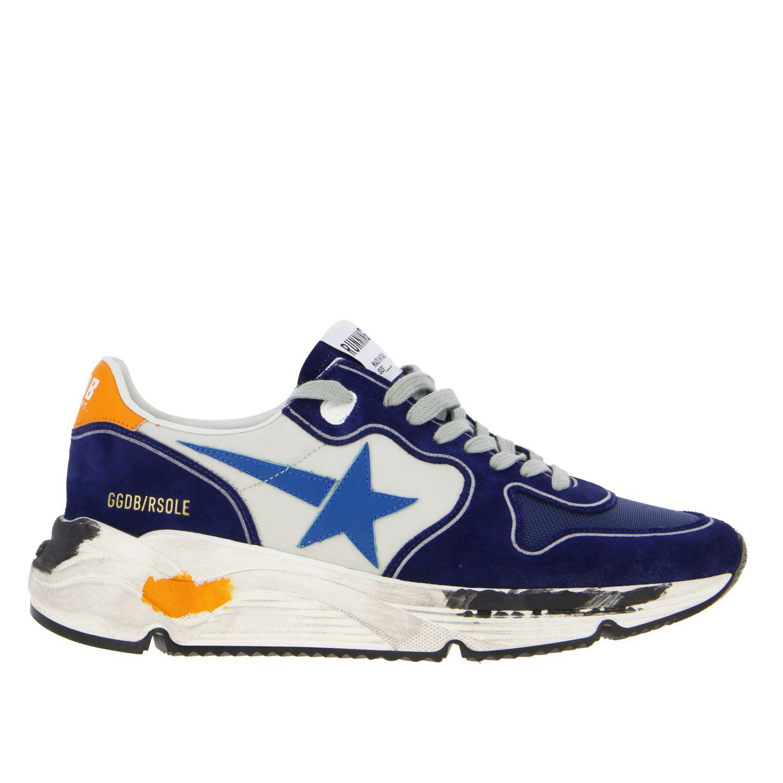 Golden Goose Sneakers aus Wildleder und Nylon blau 1