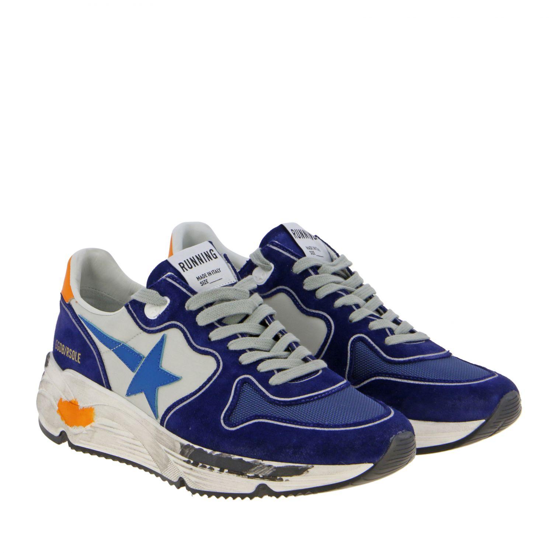 Golden Goose Sneakers aus Wildleder und Nylon blau 2
