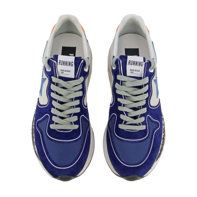 Golden Goose Sneakers aus Wildleder und Nylon blau 3