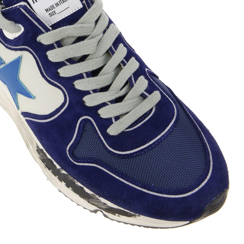 Golden Goose Sneakers aus Wildleder und Nylon blau 4
