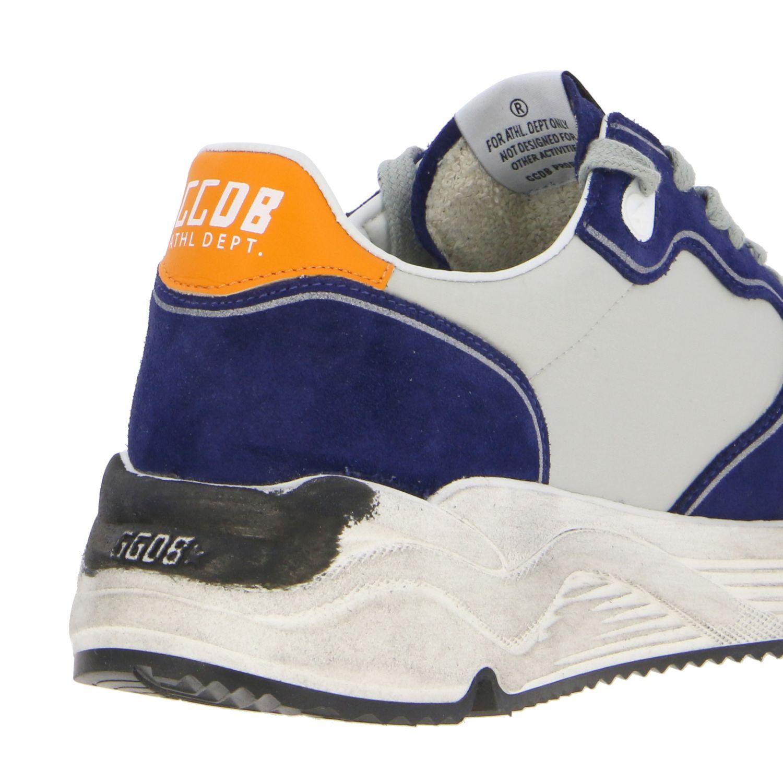 Golden Goose Sneakers aus Wildleder und Nylon blau 5
