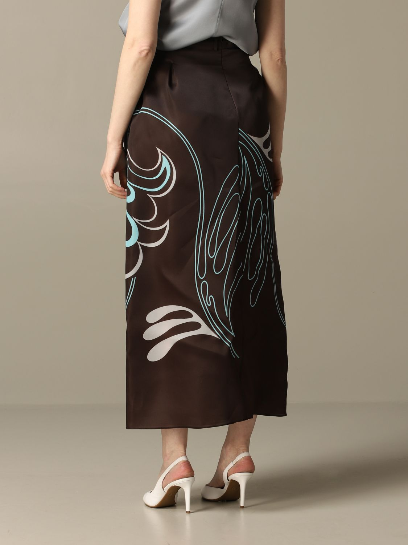 Skirt women Giorgio Armani brown 2