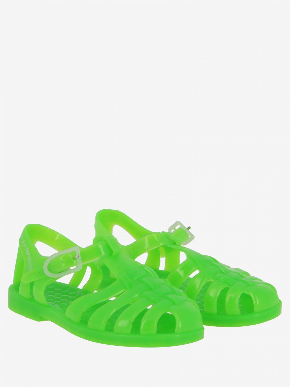 Zapatos niños Emporio Armani verde 2