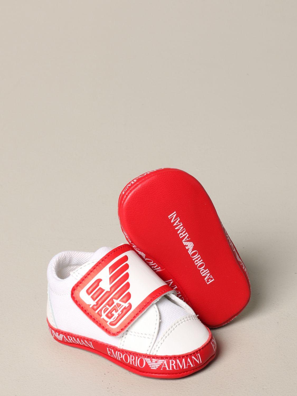 Emporio Armani logo 真皮运动鞋 红色 2