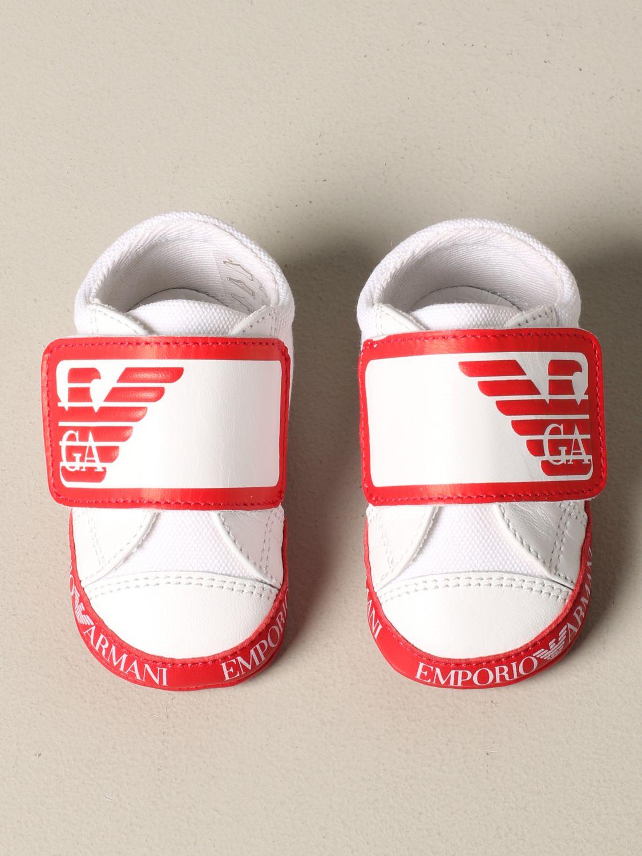 Emporio Armani logo 真皮运动鞋 红色 3