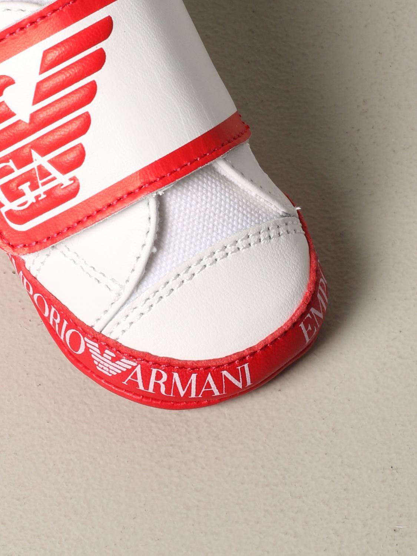 Emporio Armani logo 真皮运动鞋 红色 4