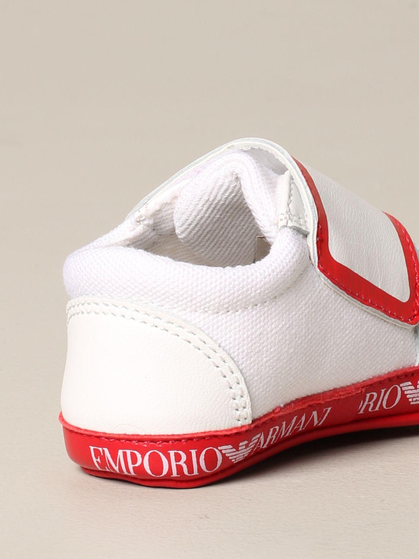 Emporio Armani logo 真皮运动鞋 红色 5