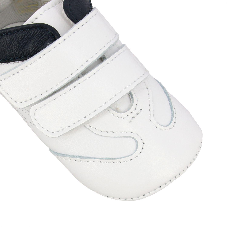 Emporio Armani 双魔术贴扣真皮运动鞋 白色 4