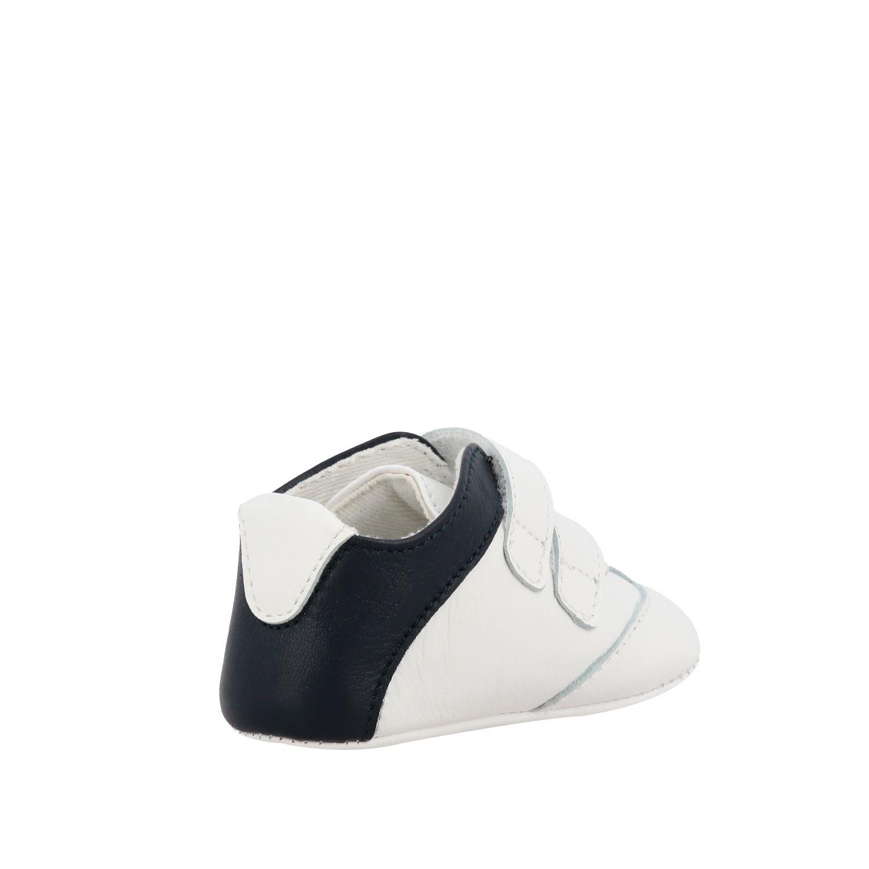 Emporio Armani 双魔术贴扣真皮运动鞋 白色 5