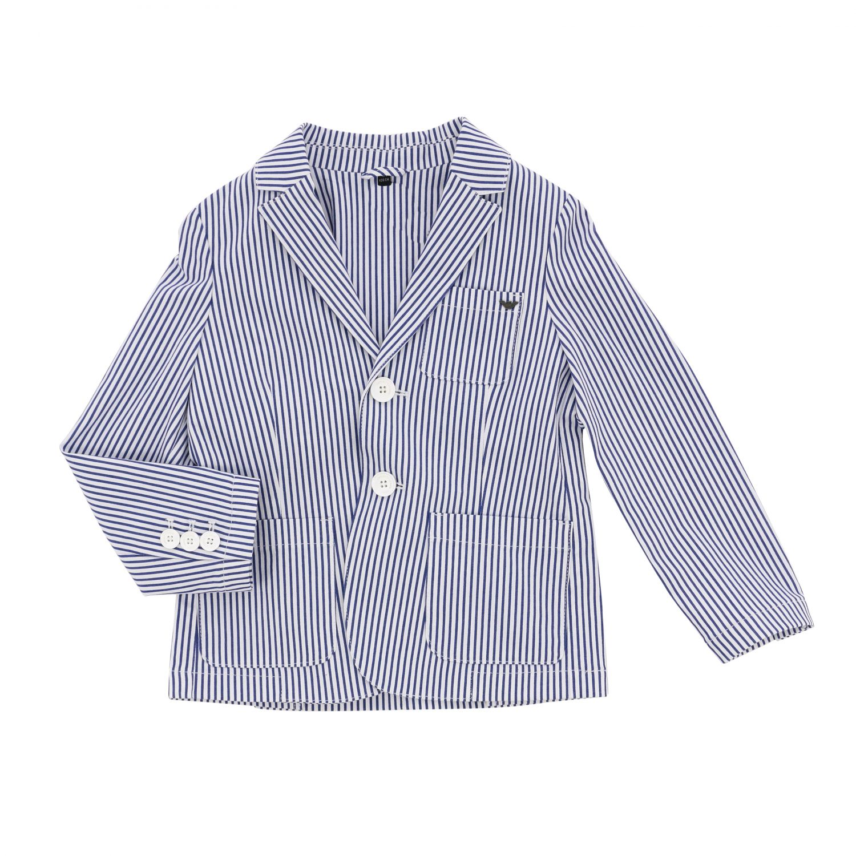 Single-breasted pinstripe Emporio Armani jacket blue 1