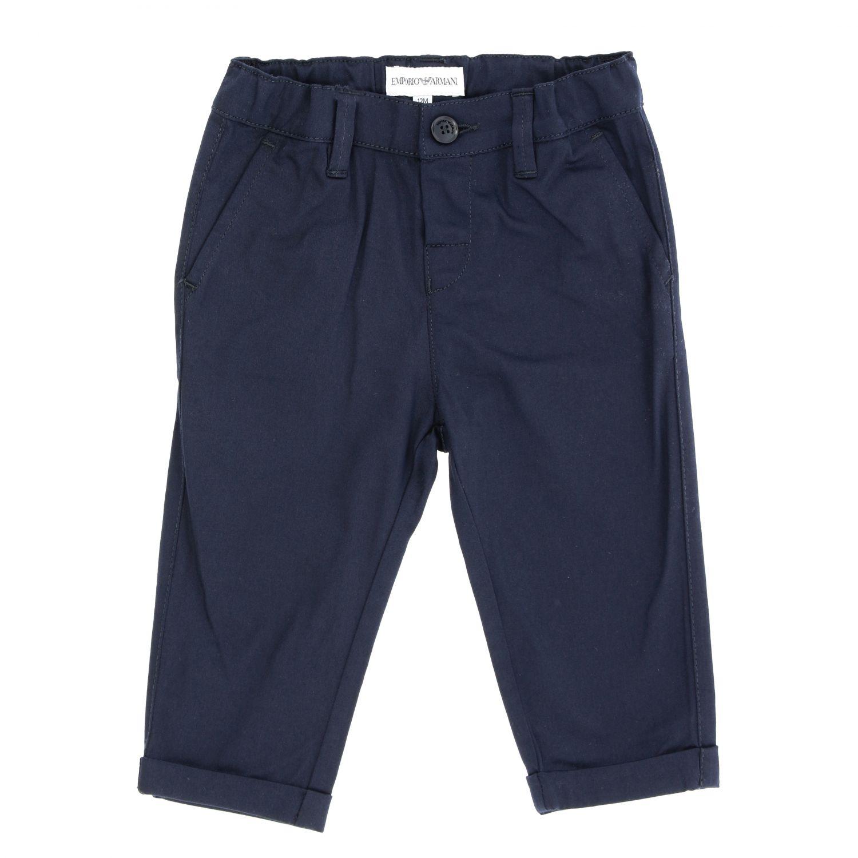 Emporio Armani trousers in stretch gabardine blue 1