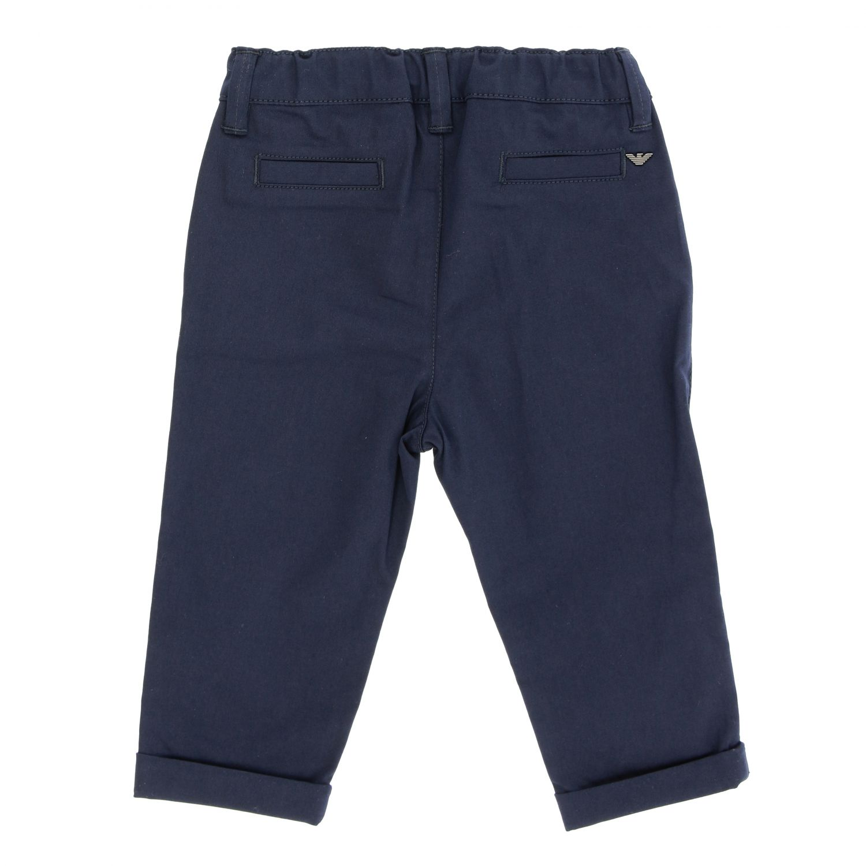 Emporio Armani trousers in stretch gabardine blue 2