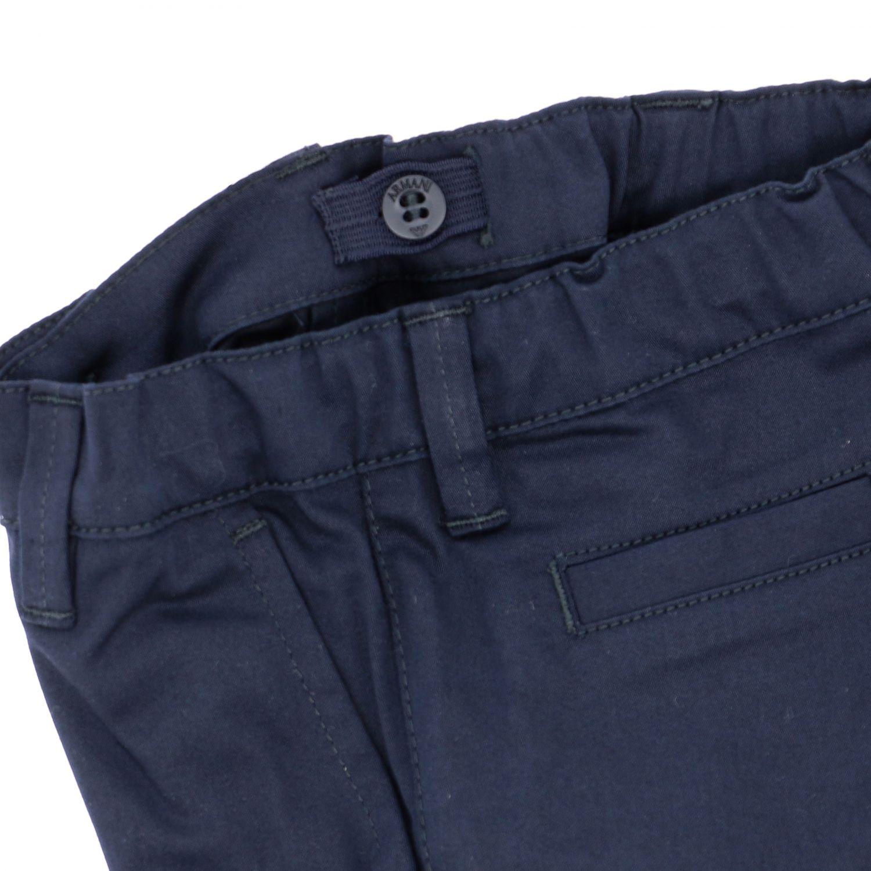 Emporio Armani trousers in stretch gabardine blue 3