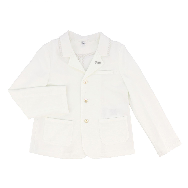 Emporio Armani jacket in jersey white 1