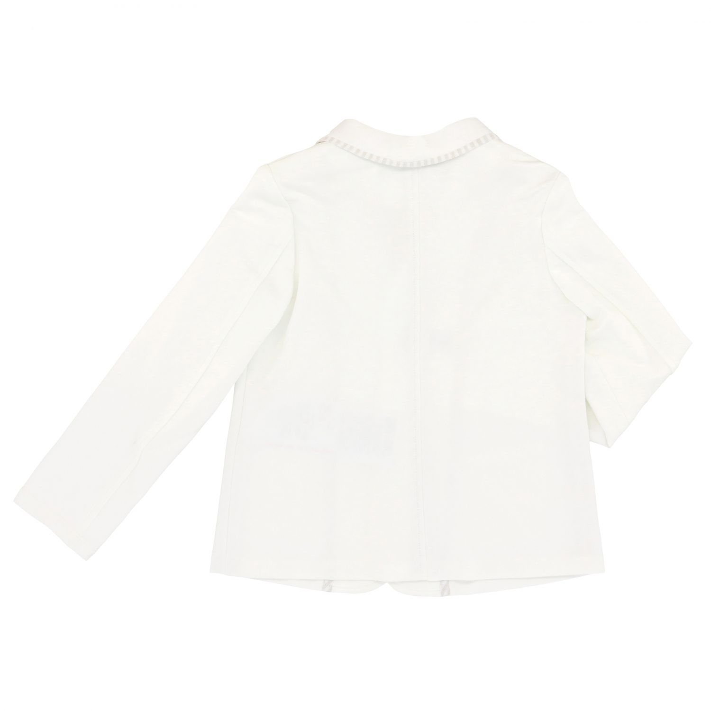 Emporio Armani jacket in jersey white 2