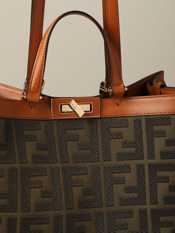 Наплечная сумка Женское Fendi милитари 3