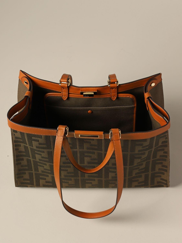 Наплечная сумка Женское Fendi милитари 4