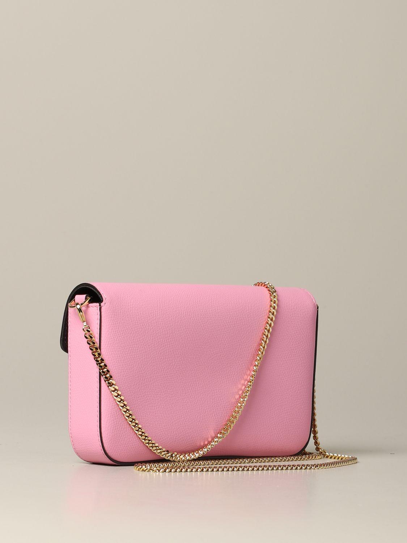 Fendi Leder Umhängetasche pink 3