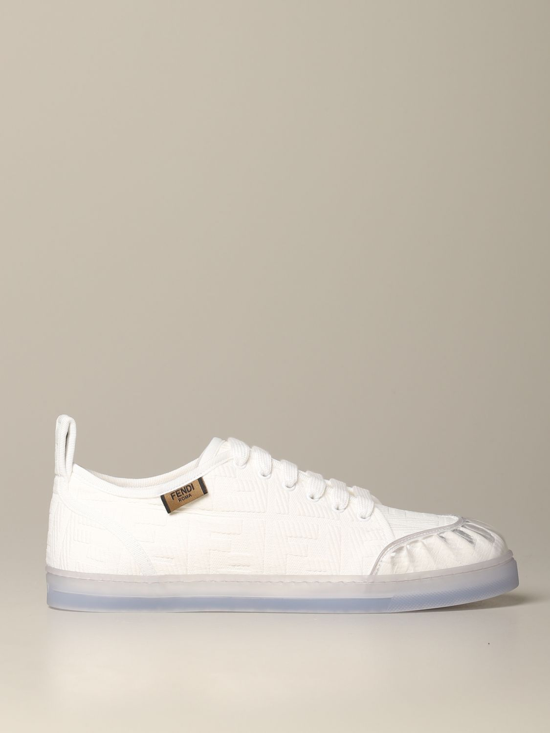 Fendi canvas sneakers with all-over FF