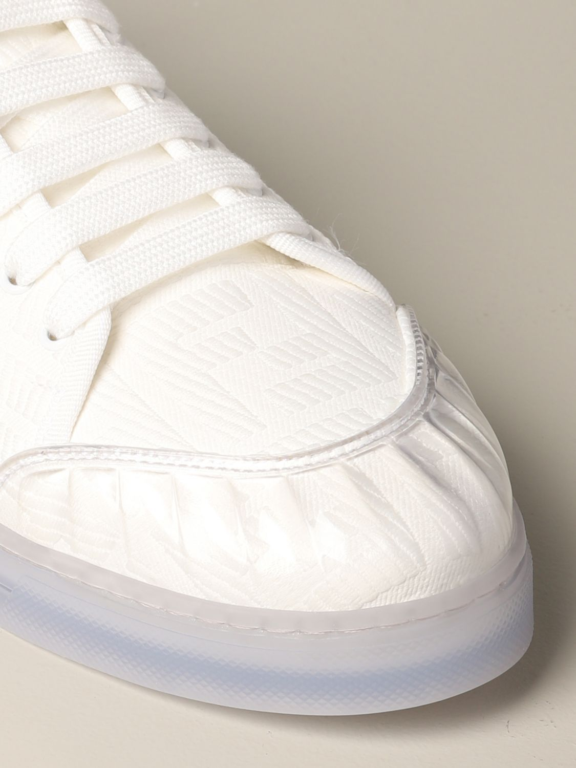 Sneakers Fendi: Fendi Canvas Sneakers mit FF Logo all over weiß 4