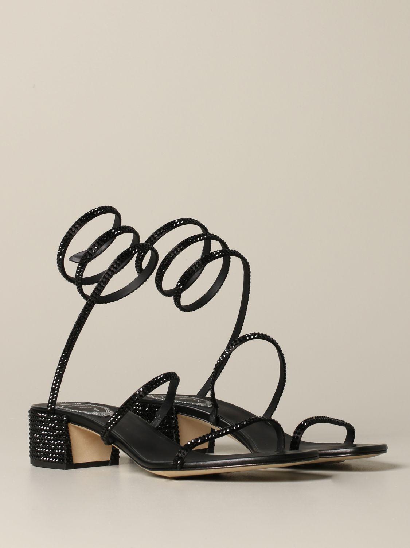 Босоножки на каблуке Rene Caovilla: Обувь Женское Rene Caovilla черный 2