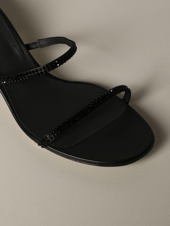 Босоножки на каблуке Rene Caovilla: Обувь Женское Rene Caovilla черный 4