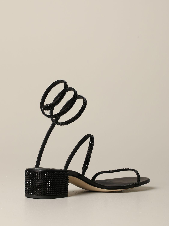 Босоножки на каблуке Rene Caovilla: Обувь Женское Rene Caovilla черный 5