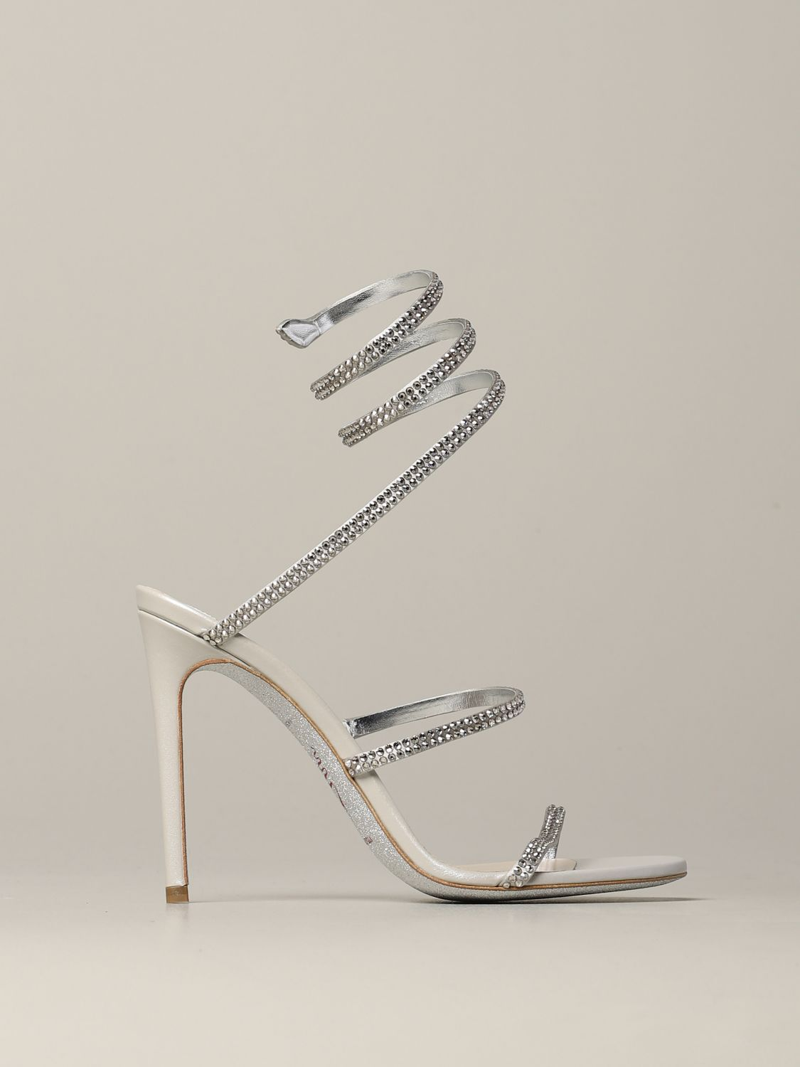 Heeled sandals Rene Caovilla: Shoes women Rene Caovilla silver 1