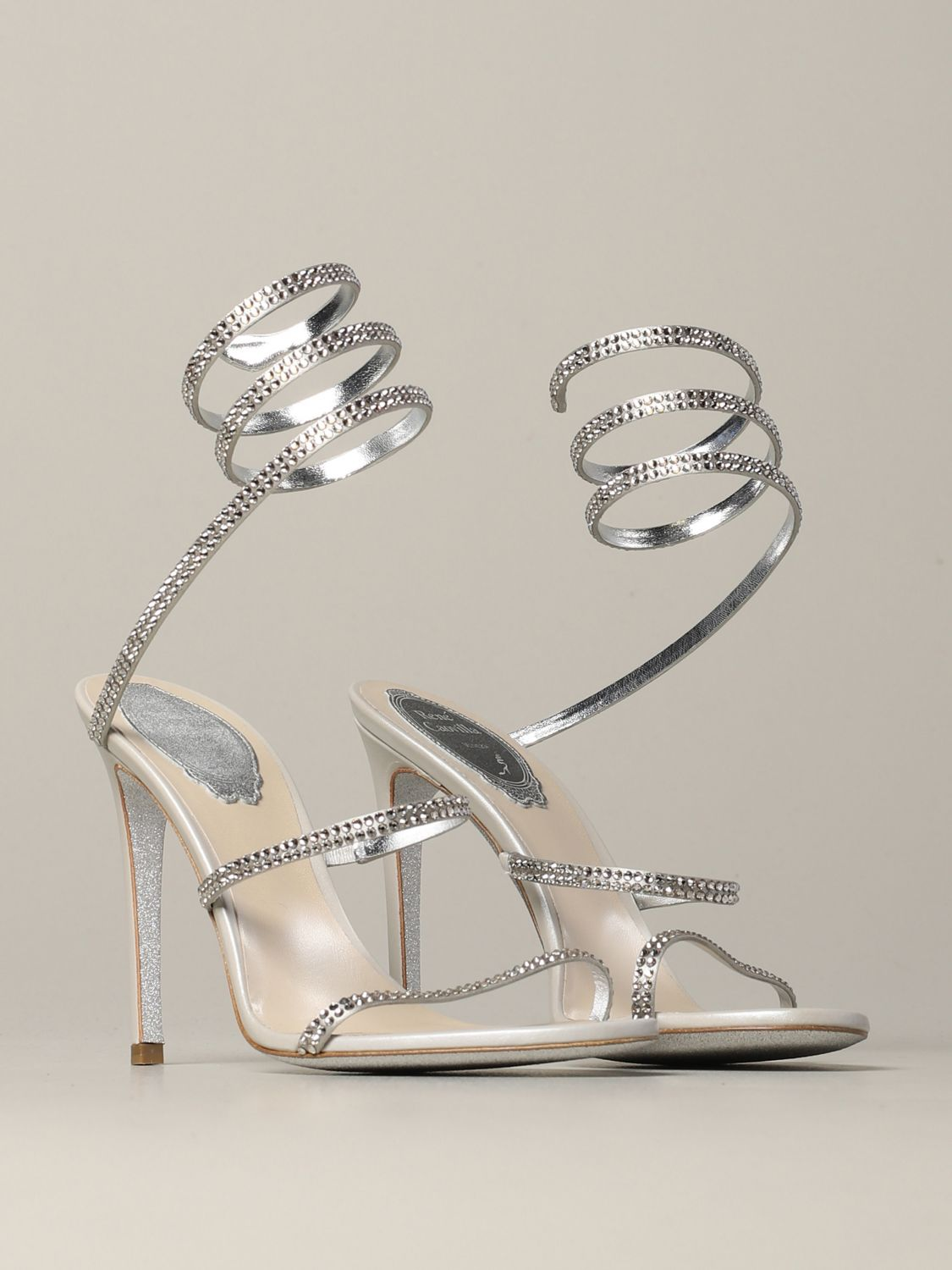 Heeled sandals Rene Caovilla: Shoes women Rene Caovilla silver 2
