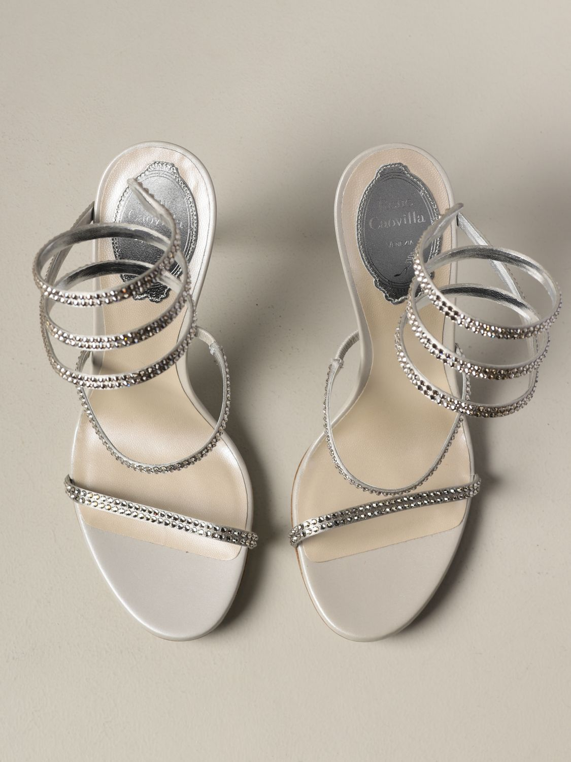 Heeled sandals Rene Caovilla: Shoes women Rene Caovilla silver 3