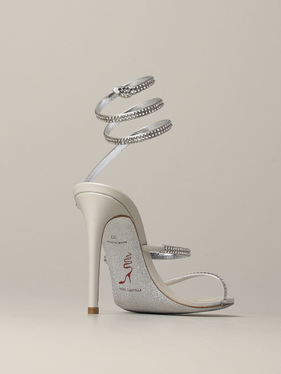 Heeled sandals Rene Caovilla: Shoes women Rene Caovilla silver 5